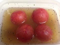 冷やし煮トマトのゼリー寄せ 16・6・17