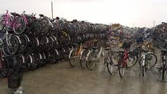 自転車店 自転車回収