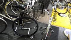 自転車後輪スポーク折れ