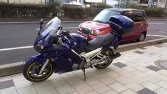 豊助饅頭をバイク便で!