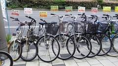 中古自転車、子供乗せ、後ろカゴ