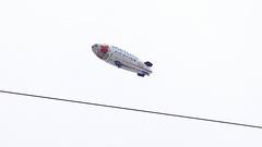 空に飛行船❗